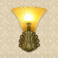 Europeo GaoHX retrò lampada Pavone Soggiorno scala Idea di corridoio camera da letto Comodino,(42*34)Cm