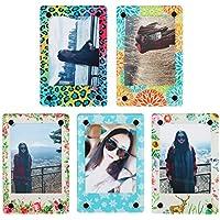 CAIUL Acrílico Transparente Marco del imán del refrigerador para Fujifilm Instax Mini 8 8+ 70 7s 90 25 26 50s Película (5 colores)