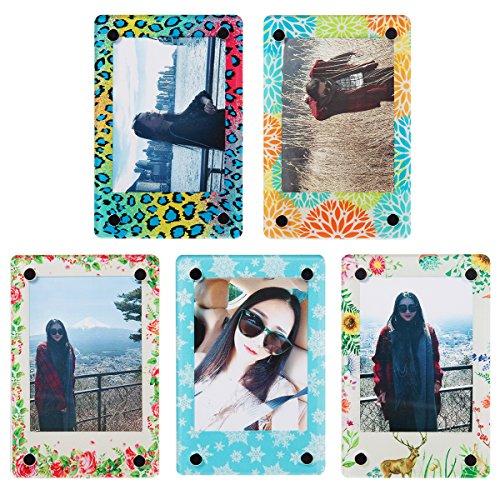 CAIUL Klarer Acryl Kühlschrankmagnet Foto Rahmen für Instax Mini 9 8 8+ 90 70 7s 25 26 50s Film (5 Farbe)