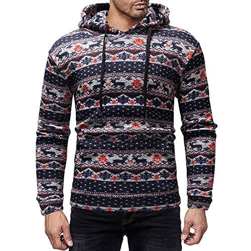 serliyHoodie Männer Sweatshirt Herren Retro Sweater Outwear Sweatjacke Parka Cardigan Lässige Mantel Kapuzenpulli Pulli Pullover Langarmshirts Jacke Hooded Top