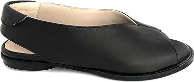 POESIE VENEZIANE TARR2314 - Sandalo donna vera pelle spuntato con scollatura