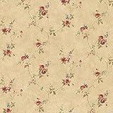 Essener Floral Prints Vinyltapete PR33807 Orange Braun Rot Blau Blumen Landhaus Vintage Floral
