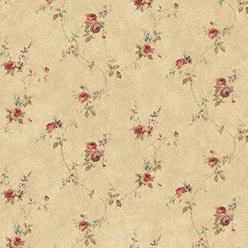 Essener Floral Prints Vinyltapete PR33807 Orange Braun Rot Blau Blumen Landhaus Vintage Floral Blumen-print-tapete