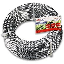 BriTools M86129G - Cable acero galvanizado (6 mm) color galvanizado