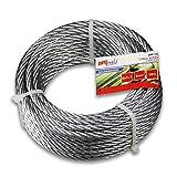 BriTools M86114G Cable acero galvanizado, 6 mm, Set de 10 Piezas