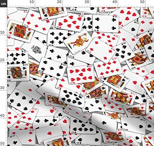 Dunkle Kostüm Zigeuner - Kartenspielen, Zigeuner, Kostüm Stoffe - Individuell Bedruckt von Spoonflower - Design von Stradling Designs Gedruckt auf Bio Musselin