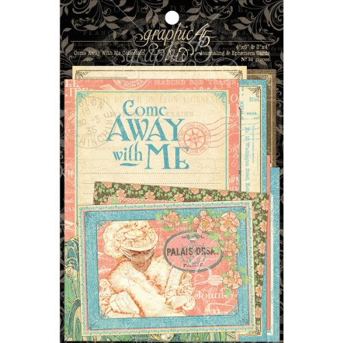 Cheapest Graphic 45 Come Away With Me Journaling and Ephmera Cards, Pack of 36, Special