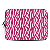 Pink Zebra Stripe Protection Laptop Sleeve Dell XPS 11.6 12 Inch Cute Notebook Computer Case for Apple MacBook Acer Samsung Ultrabook Asus Lenovo HP Sony Powerbook Water Resistance Neoprene Sleeve