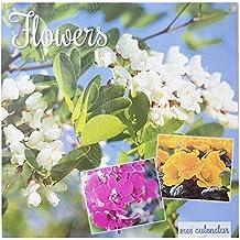 2018bouquets de fleurs jardins carré Calendrier mural 16mois de home office de Noël Cadeau d'anniversaire Floral plantes fleurs