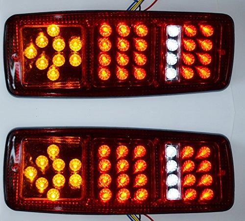 , 12V, 33SMD LED, 4Funktionen, Heckleuchte, Bremslicht, Blinklicht, für LKW, Anhänger, Transporter, Fahrgestell, Wohnwagen, Traktor, Universal ()