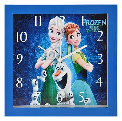 Bazaar Pirates Kids Room Wall Clock, Frozen Wall Clock for girls, Watch for Kids Room ( Small ) ( 19 cm x 19 cm )