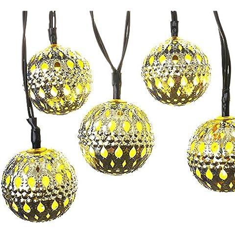 Vicloon LED Catene Luminose, Luci di Bianco Caldo, Sfera di