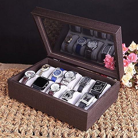 Boîte de bois montre vintage/boîtes de collection en bois Watch/sport/boîte de montre pour hommes-D