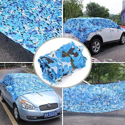 Koovin blaues Tarnnetz Camouflage Netz, schönes Schattentuch, perfekt für Garten/Schwimmbad/pergola/Party Dekoration (Party Dekorationen Camouflage)