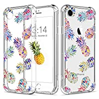"""iPhone 7 Case,iPhone 8 Case,Caroki Clear Transparent TPU Pineapple Case,Soft TPU Art Series Case [Scratch Resistant/Shock Absorption] Bumper Protective Case for iPhone7/8 4.7""""-Colorful Pineapple"""