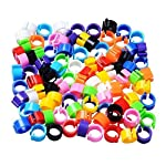 huertuer approx. 100 pcs/set colorful rings for birds and pigeon(random color) Huertuer Approx. 100 Pcs/Set Colorful Rings for Birds and Pigeon(Random Color) 61xkXw3nOHL