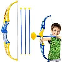 per Principianti e Bambini Bogenk/önig Arco Regno Freccia e Arco in Legno per Bambini Set 10 frecce e Custodia