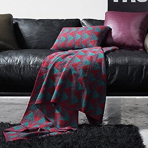 BDUK La coperta di divani coperte coperte di lana dall'Ufficio del poi pausa pranzo per pranzo e impianto di condizionamento dell'aria e Waffle Grand Prix scialle american blend di lana filato