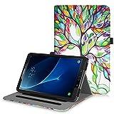 Fintie Hülle für Samsung Galaxy Tab A 10,1 Zoll T580N / T585N Tablet - Multi-Winkel Betrachtung Schutzhülle Cover Case Tasche mit Dokumentschlitze, Standfunktion, Auto Wake/Sleep Funktion, Liebesbaum