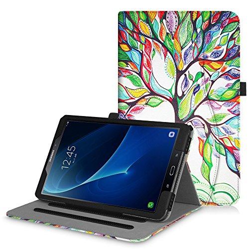 Fintie Hülle für Samsung Galaxy Tab A 10,1 Zoll T580N / T585N 2016 Tablet - Multi-Winkel Betrachtung Schutzhülle Cover Case mit Dokumentschlitze, Standfunktion, Auto Wake/Sleep Funktion, Liebesbaum A6-tablett