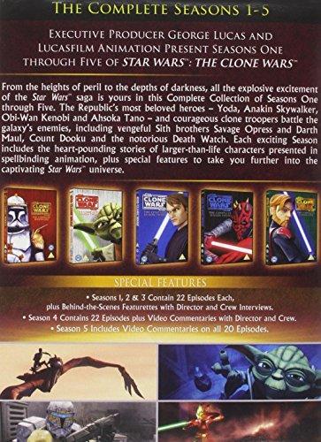 Image of Star Wars Clone Wars - Season 1-5 [DVD]