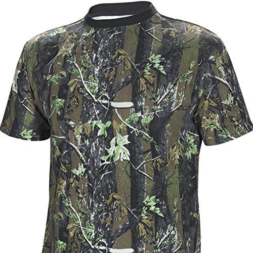 Fladen Authentic Wear 100% Baumwolle Lange und kurze Ärmel Camouflage T-Shirts–Eigenschaften Woodland Forest Camo Design–Ideal für Angeln, Jagd und ähnliche Outdoor-Aktivitäten Camouflage X-Large - T-Shirt (Thermal Shirt Angeln)
