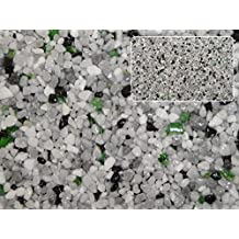 Natursteinteppich-Fliese Premium Line Dekor Frühling - flexible Bodenfliese für Innen und Außen aus italienischem Marmorkies, Teppichfliese, Marmorteppich, Terassenboden, Poolumrandung - 1m² Paket (4 Stück 50x50 cm)