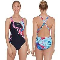 Speedo Women's Colourflood Placement Digital Powerback Swim Briefs