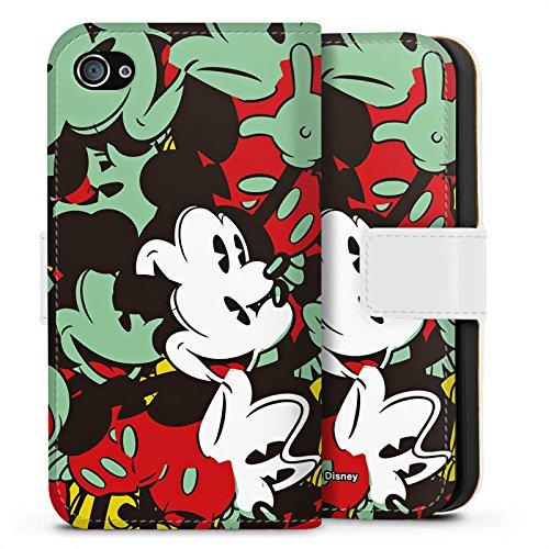 Apple iPhone X Silikon Hülle Case Schutzhülle Disney Mickey Mouse Geschenke Sideflip Tasche weiß