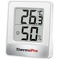 ThermoPro TP49 Petit Hygromètre Numérique Thermomètre Intérieur Thermomètre D'ambiance Moniteur de Température et…