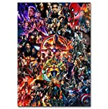 taoyuemaoyi Mur Art Photo Marvel Film Avengers Endgame Affiches Et Gravures Toile Art Peintures pour Le Salon Décor 40 * 50 Cm
