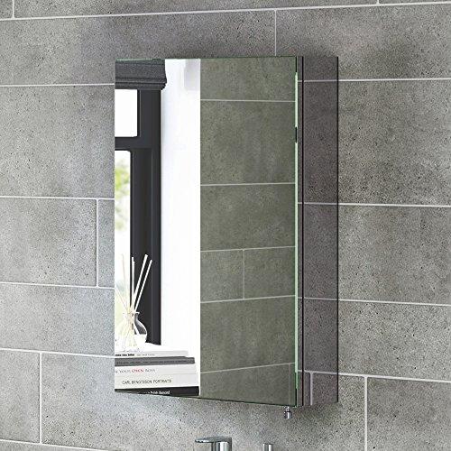 Soak Moderno armario de baño con espejo de acero inoxidable de una sóla puerta