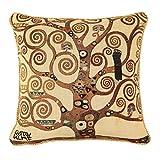 Gobelin Kissenbezug – Klimt: Baum des Lebens – aus Gobelin im belgischen Stil