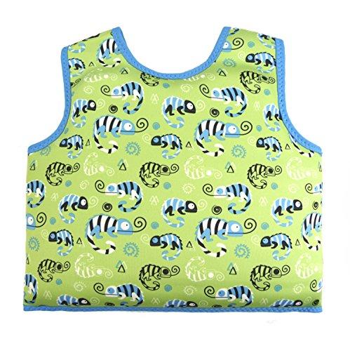 Splash About Erwachsene Kinder Go Splash Schwimmveste, Green Gecko, 1-2 Jahre