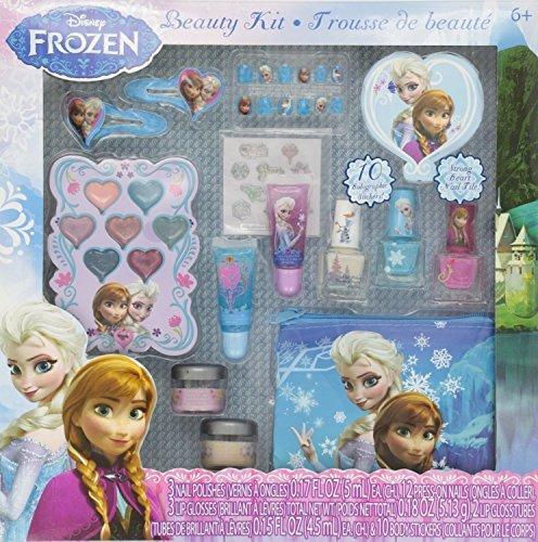 Townley Girl Disney Beauty Beauty Kit, Lippenbalsam, glänzend, Pressnägel, Edelsteine, Aufkleber, Haarspangen