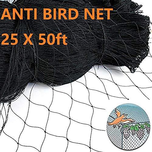 Damofy Rete per Uccelli, 7.5x15m Rete da Giardino per Anti Uccello, Rete per Pollame Proteggere Frutta Verdura 5x5cm Maglia Quadrata