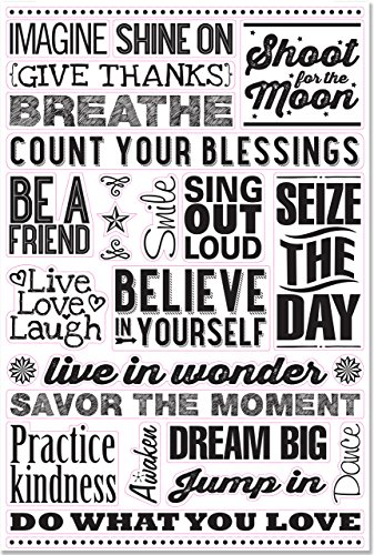 Believe in Yourself Peel & Stick Wall Decal Set: 27 Removable Vinyl...