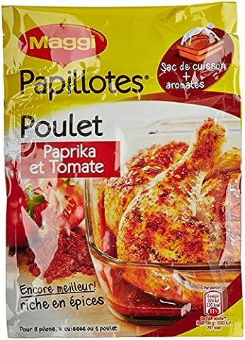 Maggi Papilloté de Poulet Paprika et Tomate 28 g - Lot de 8