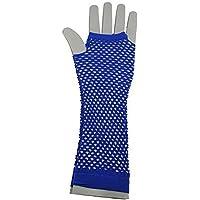 Guanti a rete in nylon senza dita Guanti in maglia elasticizzata da polso per accessori per costumi da donna per ragazze