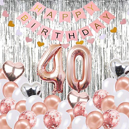 Globos Decorativos para cumpleaños de 40 años