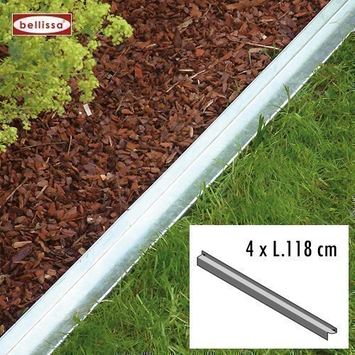 Bellissa 10092 Lot de 4 bordures de massif 118 cm