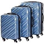Shaik 7203040 Trolley Koffer, 3er Set ( M, L, XL), himmelblau