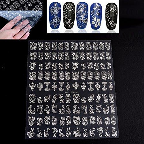 wlgreatsp 108pcs Nagel-Kunst-Aufkleber Neue Mode Stamping-Abziehbilder Professional - Halloween-nagel-kunst Neue