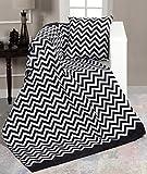 EHC - Manta para sofá de Chenilla, 130 x 170 cm, Doble pequeña, Color Negro, Negro, 130 x 170 cm/Small Double