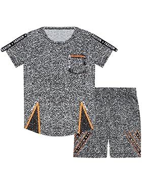 ZipZappa Lote de 2 Piezas Pantalones Cortos y Camiseta de Manga Corta, Niño