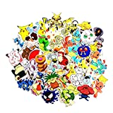 Pokémon Stickers Pikachu pour Ordinateur Portable Lot de Stickers Autocollants Cool Dessin animé Stickers pour Skateboard Guitare de Voiture Vélo Moto Vélo Bumper (Pokémon Stickers)
