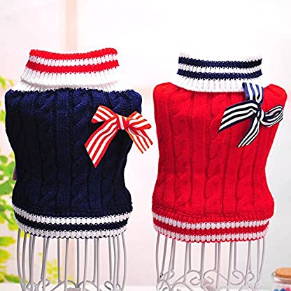New Lovely Navy Style Pet Dog Puppy Warm Jumper Knit Sweater Clothes Costume Coat Apparel 1