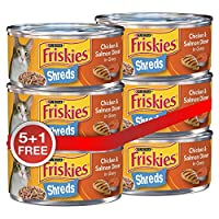 Purina Friskies Purina Shreded Chicken and Salmon Crips - 156 gm, Pack of 6