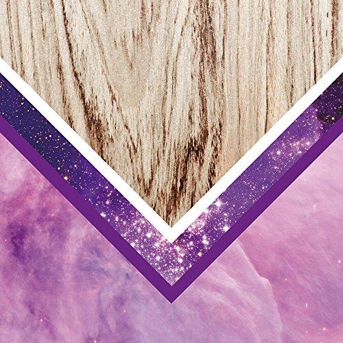 Apple iPhone SE Case Skin Sticker aus Vinyl-Folie Aufkleber Holz Look Glitzer Hipster Muster DesignSkins® glänzend