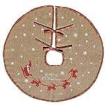 Amajoy Merry Christmas Tree gonna bianco Snowflake Burlap Tree Skirt per Natale Decorazioni festive Holiday decorazione, rosso e verde plaid, 76,2cm o 121,9cm per la scelta
